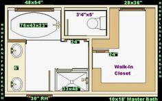 Free Closet Design Plans on Plan 2 Free 10x18 Master Bath Ideas Design With Walk In Closet