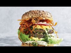 This plant-based burger is flipping delicious Healthy Options, Healthy Recipes, Healthy Food, Plant Based Burgers, Lentil Burgers, How To Cook Burgers, Vegan Mayo, Sweet Potato Chips, Butter Beans
