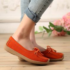 Shoes SUNROLAN genuine leather lace-up suede leather several colors to size 10