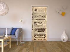 """Verwandle deine Tür in eine große retro Zeitung mit dem Design """"Vintage Newspaper"""" - intellektuell und außergewöhnlich! #vintage #retro #tuer #design #retrodesign #designfolie"""