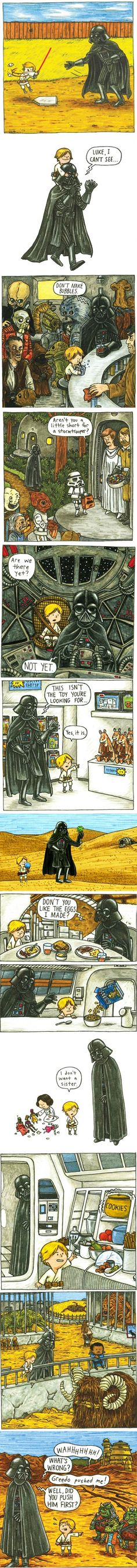 If Darth Vader was a good father. awesome