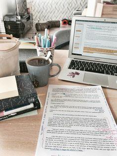 Study Inspiration and Motivation School Organization Notes, Study Organization, School Notes, College Motivation, Study Motivation, Studyblr, Coffee Study, College Aesthetic, Study Corner