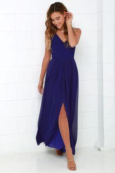 Show of Decorum Royal Blue Maxi Dressat Lulus.com!