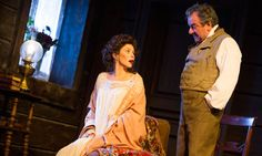 Anna Friel and Ken Stott in Uncle Vanya, directed by Lindsay Posner. Photograph: Tristram Kenton for the Guardian Terrence Mann, Ken Stott, Young Vic, Anna Friel, The Guardian, Theater, Russia, Grunge, Stage