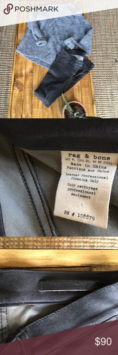 ** Rag and Bone Lambskin Leather Trousers ** ** Rag and Bone Lambskin Leather Trousers ** They are currently SOLD OUT on the RB site.  Size 24 - Fits true to size   Great condition! Wore them only once.  Let me know if you have any questions. rag & bone Jeans Skinny