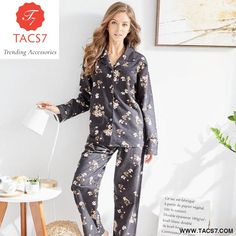 0793d3bdc7 Girls Pajamas Cotton Flannel Set Ladies Nightgown Women Sleepwear