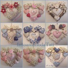 Pin by Ann-Britt Granström on korsstygn Valentine Decorations, Valentine Crafts, Christmas Crafts, Valentines, Christmas Sewing, Felt Flowers, Fabric Flowers, Hobbies And Crafts, Diy And Crafts