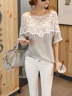 The perfect combination of sexy and cute! This easy blouse is sure to flatter all and, just $13.14  Stay up to date on the latest fashion with Chicuu's newsletter and receive 30% off your first order!