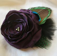 Peacock Flower Hair Clip Comb or Pin with by BeautifulBlossoms, $24.00