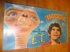 VINTAGE RARE GREEK BOARDGAME - THE E.T. ADVENTURES - TV SHOW STAM TOYS FROM 80s