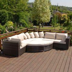 Garden Furniture Homebase palermo corner sofa set - home delivery   sofa set, rattan and porch