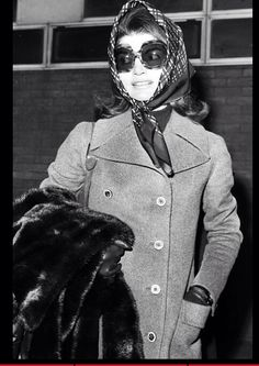 Jackie Onassis, a legacy of style  wearing her signature Hermès scarf in  January 1972 ba08fa59edb1