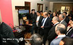 """El 9 de abril, el presidente Bako Sahakian de la Republica de Nagorno Karabaj (NKR) asistió a la solemne apertura del nuevo edificio del fondo """"Centro de Tecnologías de la Información Artsaj"""" en Stepanakert, informó la Oficina de Prensa del Presidente."""