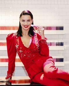"adri-and-sara: """"Adriana Lima for Maybelline New York "" "" Sara Sampaio, Marvel Girls, Adriana Lima, Brazilian Hair, Girl Crushes, Maybelline, To My Daughter, Leather Jacket, Celebs"