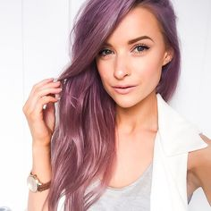 Tanned holiday skin is my favourite, especially with long purple lilac hair. All links right here www.liketk.it/1qheg