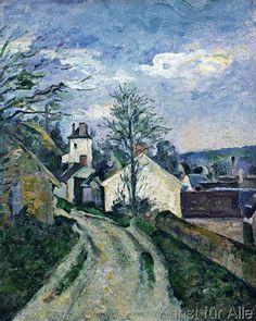 Paul Cézanne - Doctor Gachet's house at Auvers, c.1873