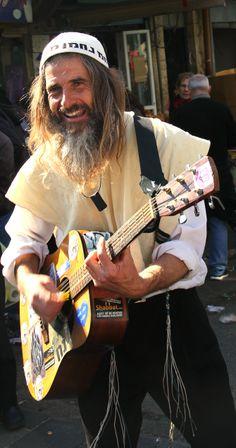 Happy Breslov Man in the Machne Yehuda Market.