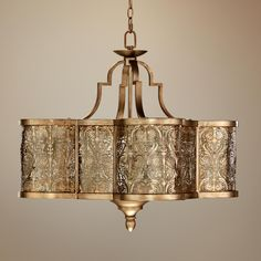 "Quorum French Damask 28"" Wide Vintage Pewter Pendant Light - For my master bedroom!!"