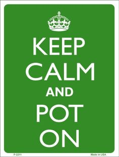 Pot on, my friends. Pot on.
