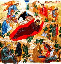 "wonderful Nativity icon - ""The Word became flesh"", by St. John of Kronstadt (link)"