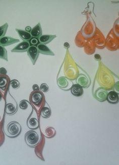 Kup mój przedmiot na #vintedpl http://www.vinted.pl/akcesoria/bizuteria/10145687-bizuteria-z-quillingu-kolczyki-zawieszki