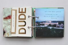 December Daily - a ring-bound mini photo album made about the month of December - Katie Licht