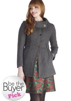 Tulle Clothing Extra Whip Coat in Fog | Mod Retro Vintage Coats | ModCloth.com