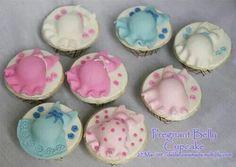 Zwangere buik cupcake