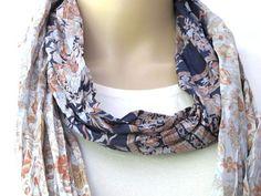Silk scarf Infinity Scarf Sari scarf by silkzdesign on Etsy