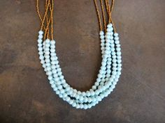 Dreamy Mint Statement Necklace by BeautifulUganda on Etsy. for my birthday.