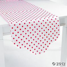 Hot Pink Reversible Table Runner, Table Covers, Tableware, Party Themes & Events - Oriental Trading