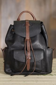 40109c97cb5c The Rainer leather backpack is crafted of robust bridle leather in a rich  two-tone