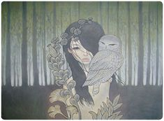 Owls are my american indian animal.... one day i will get a print