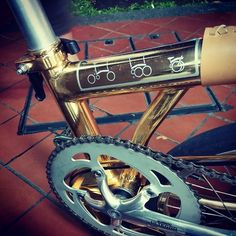 Gold plated Brompton from Singapore