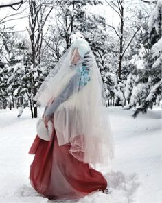 """""""Some Flower in Snow"""" by Kim Jung Han for Vogue Korea"""