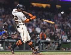 Outa here - and we're going home. Game winning walk off against the Dodgers. Giants win 7-6 . 4/7/18