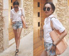 Shirt, Shorts, Sandals, Bag, Sunglasses, Watch