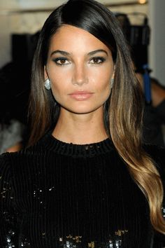 Best honey blonde sombre on a chocolate brown base for olive skin
