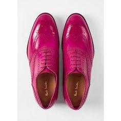 b4c6a650f12 Paul Smith Men s Fuchsia Parma Calf Leather  Cristo  Brogues ( 495) ❤ liked