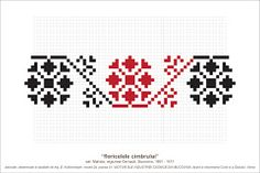 Semne Cusute: MOTIVE: floricelele cimbrului (P41, M24) Creative Embroidery, Folk Embroidery, Cross Stitch Embroidery, Embroidery Patterns, Knitting Patterns, Peyote Patterns, Beading Patterns, Cross Stitch Patterns, Needlepoint Designs