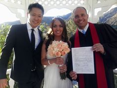 I had the pleasure of performing a wedding ceremony for a very nice couple named Howard Chu and Jennifer Ilagan this past weekend. The wedding took place at The Castaways in Burbank, on Friday even… Got Married, Getting Married, Restaurant Wedding, Marriage License, Us Beaches, Price List, Beach Weddings, Bridesmaid Dresses, Wedding Dresses