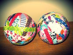 Bolas de tecido