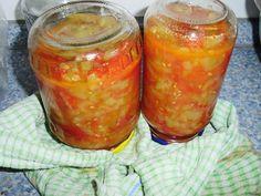 Zeleninové lečo na zavaření Salsa, Jar, Food, Red Peppers, Essen, Salsa Music, Meals, Yemek, Jars