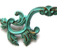 "The Decorated House: ~ The ""Secret"" Tutorial ... How To Paint Turquoise Patina .... French Drawer Pulls"