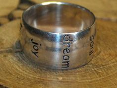 Sterling Silver 925 Vintage Estate Faith Love Hope Peace Band Ring Size 6 5 | eBay