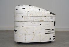 hiroyuki hamada art | 63 (2006-10). Burlap, enamel, oil, plaster, resin, tar, wax and wood ...