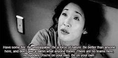 And, of course, when Cristina demanded that we all be FIRE.