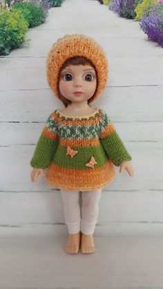 """Hand Knit Outfit for 10"""" Patsy & 10"""" AnnEstelle doll Nr.1 #ClothingAccessories"""
