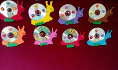 Cd Crafts, Diy And Crafts, Crafts For Kids, School Projects, Art Projects, Projects To Try, Cd Diy, Cards For Friends, Classroom Decor