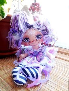Купить Текстильная кукла Сиреневая феечка 2 .Интерьерная кукла. - сиреневый, интерьерная кукла